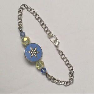 Handmade Starlight beaded chain bracelet